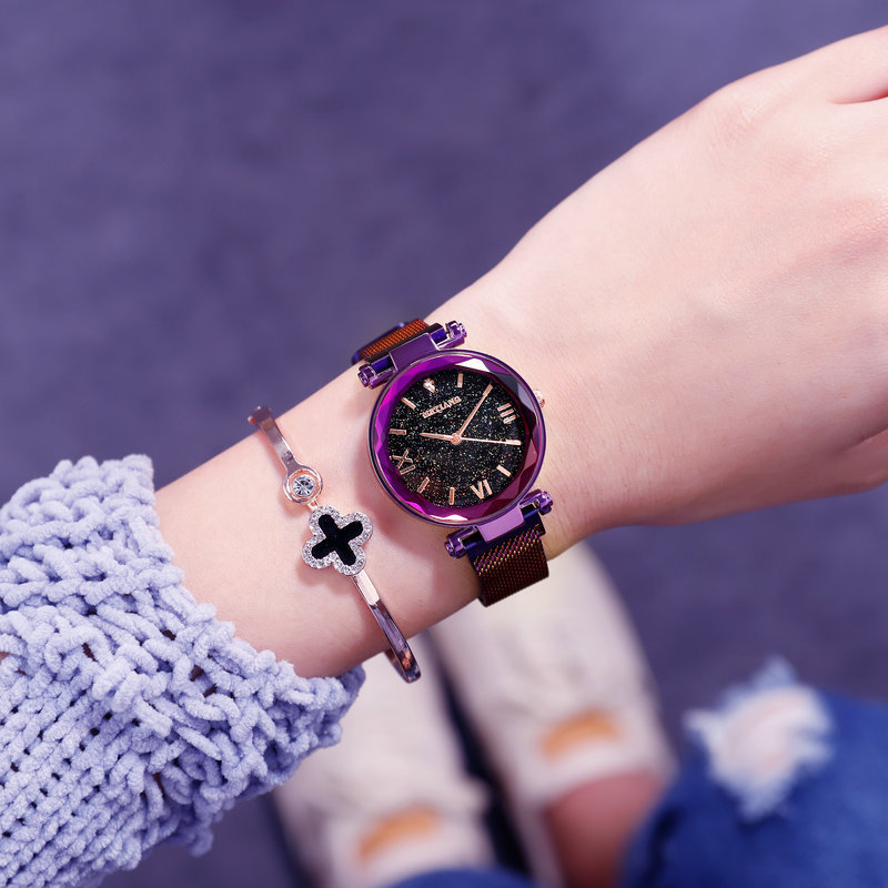 Luxury Brand Women Watches Ladies Starry Sky Magnet Buckle Clock Diamond Watch Relogio Feminino Wrist Watches for Women 2