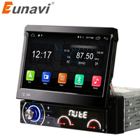 Eunavi 7 Inch 1 Din Car Dvd Player Android 4 4 4 Motorized Detachable 1080P Video