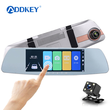 Автомобильный видеорегистратор ADDKEY Full HD 1080 P, 7,0 дюймов, ips, сенсорный экран, рекордер, камера с двумя объективами, камера заднего вида, авто регистратор, видеорегистратор