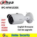 Dahua 3mp câmera ip bala 1080 p suporte poe função hfw1320s ipc-hfw1320s ip67 à prova d' água câmera de segurança cctv