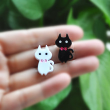 20pcs resin sailor moon cat for  DIY  phone decoration hair craft nail decoration mixed colors