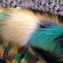 Hochwertigen jacquard fuchspelz, 3-4 cm pile bunte filz tuch, plüsch teppich matten stoff, diy handgemachte kunstpelz stoff, 160 cm * 50 cm/pcs