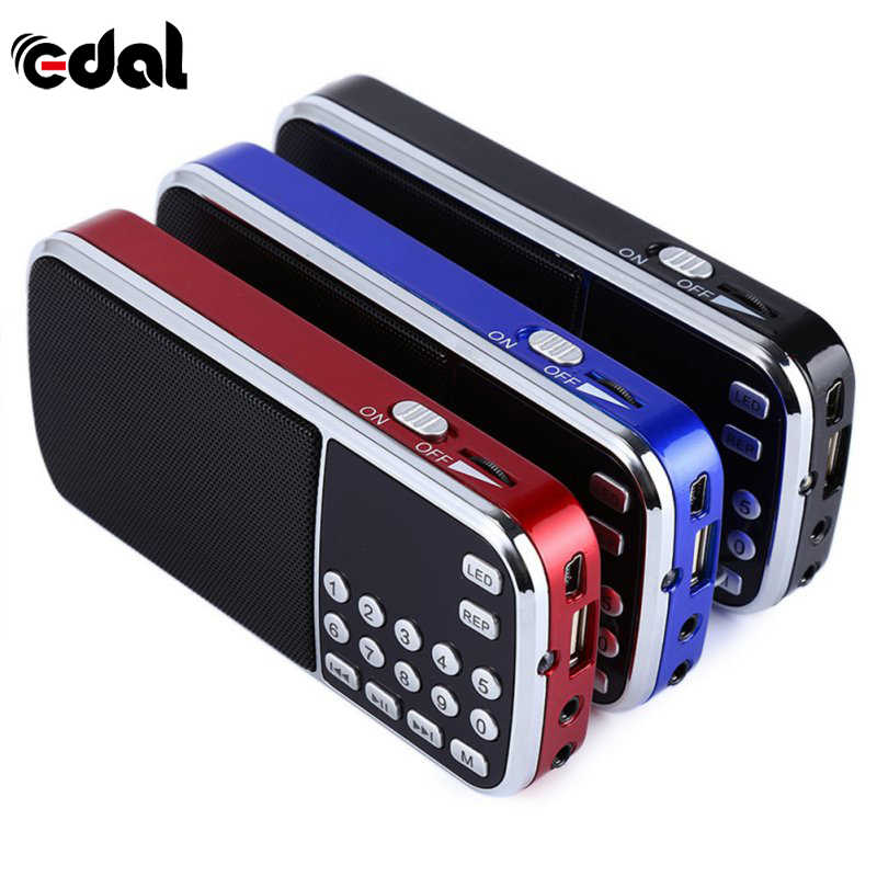 Draagbare Digitale Stereo Fm Mini Radio Speaker Muziekspeler Met Tf Card Usb Aux Input Geluid Dozen Handheld Digitale MP3 speler