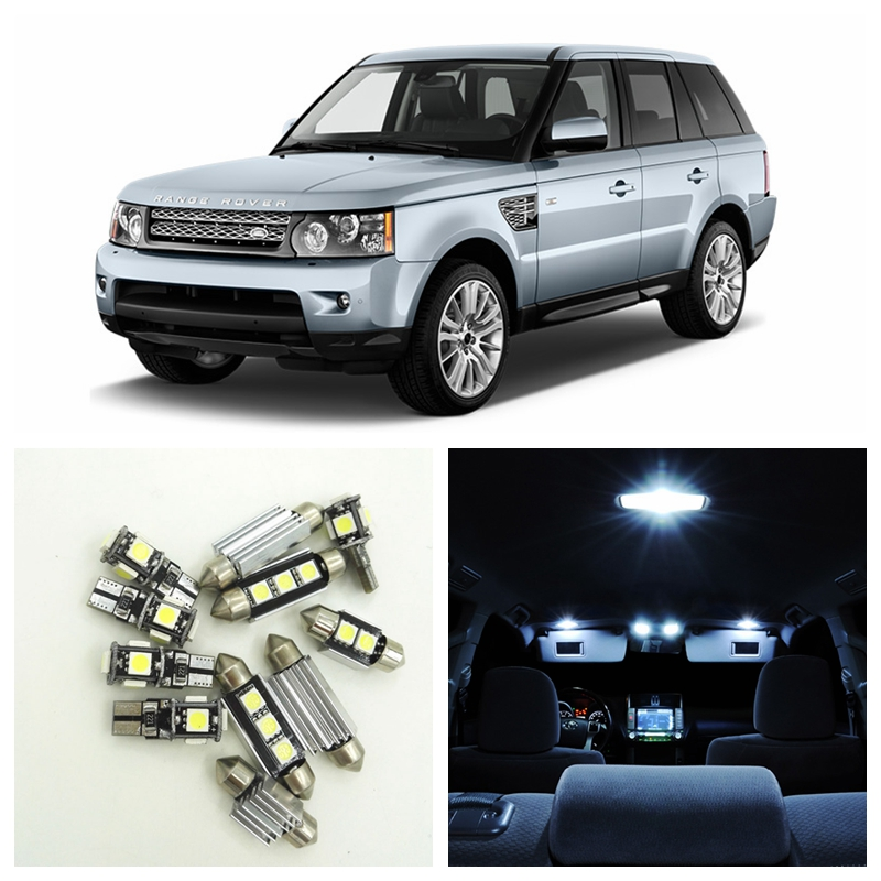 16pcs Canbus White Car LED Light Bulbs Interior Package Kit For 2006-2012 Land Rover Range Rover Sport  Map Dome Door Lamp 15pcs white canbus error free car led light bulbs interior package kit for 2002 2003 2004 audi a4 b6 map glove box door lamp