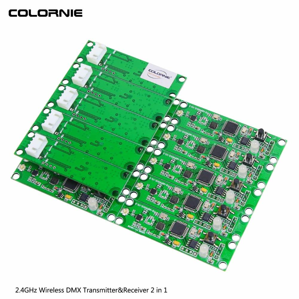15pcs lot Disco Light Controller MINI PCB Module Wireless DMX 512 Transmitter Receiver 2 in 1
