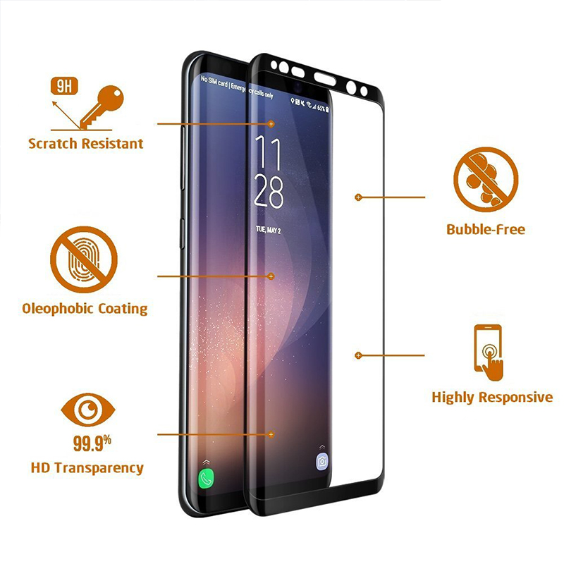 Suntaiho For Samsung Galaxy Note8 9 S8 S9 Plus 3D full Coverage PET Soft Full Screen Protector  Body Film (Not Tempered Glass)