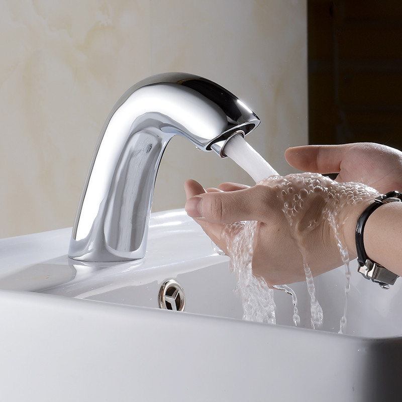 Brass Material Infrared Sensor Toilet Sink Tap Hot And Cold Automatic Hands Touch Free Sensor Bathroom Faucet brass bathroom sink faucet basin faucet automatic sensor mixer touch free sensor faucet hot and cold automatic hands tap