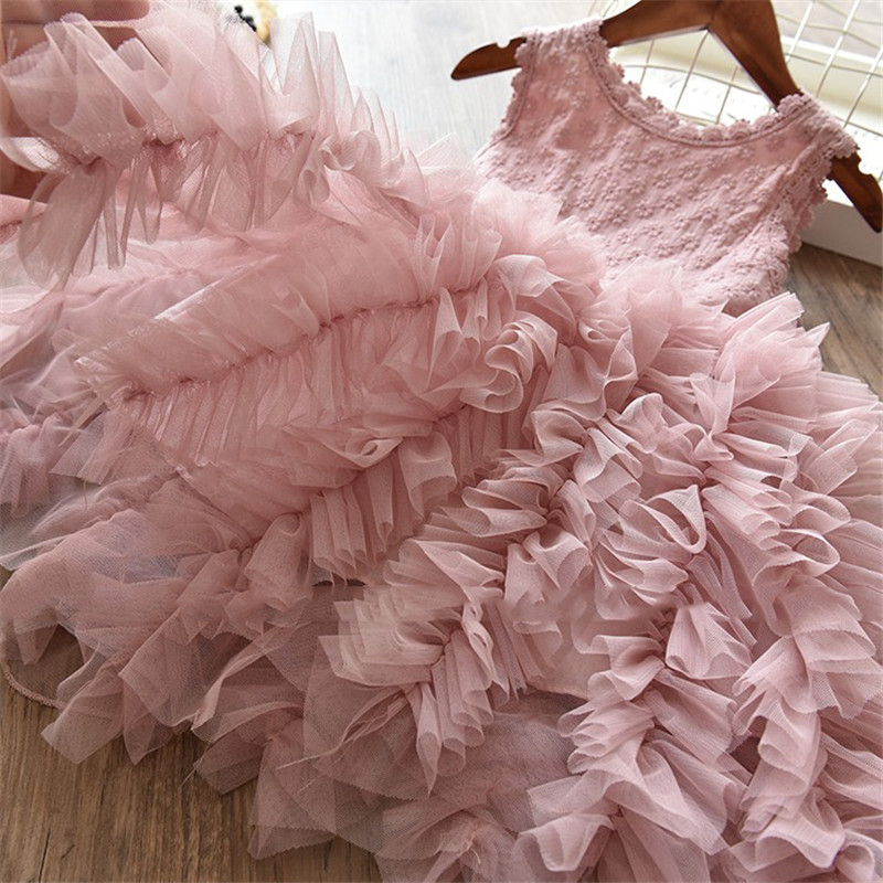 HTB11M EsY1YBuNjSszhq6AUsFXaI Children Formal Clothes Kids Fluffy Cake Smash Dress Girls Clothes For Christmas Halloween Birthday Costume Tutu Lace Outfits 8T