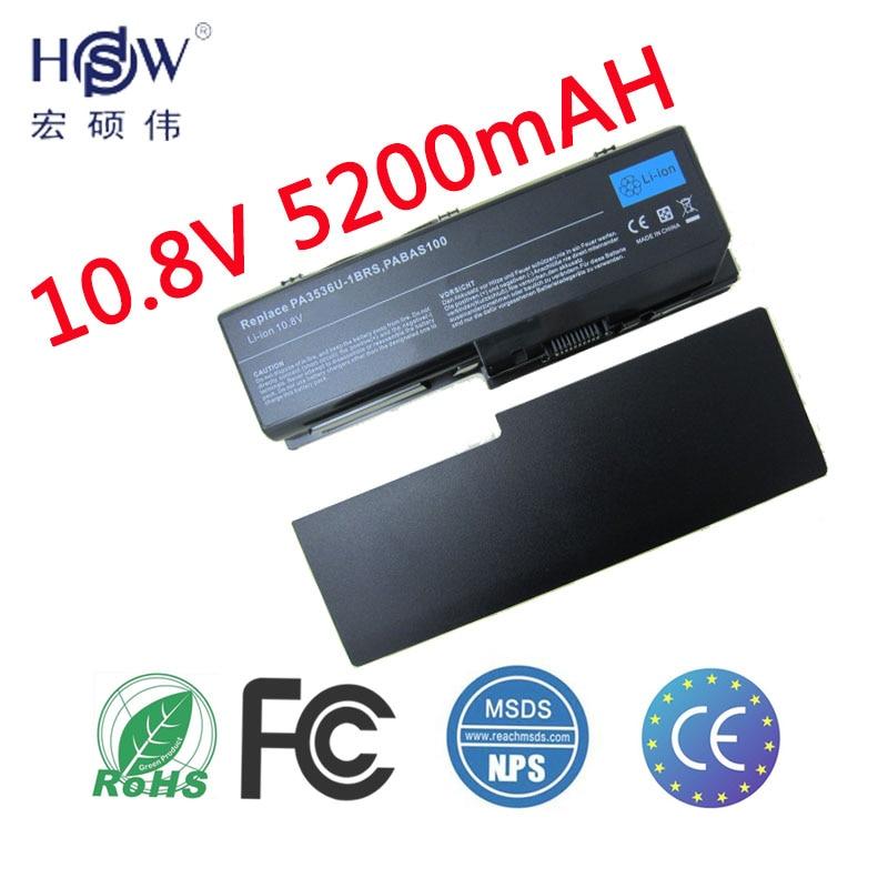 HSW 6 Cellules Batterie D'ordinateur Portable Noir pour Toshiba Equium P200 POUR Satellite P200 P300 L350/L355 PA3536U-1BRS PA3537U-1BAS bateria
