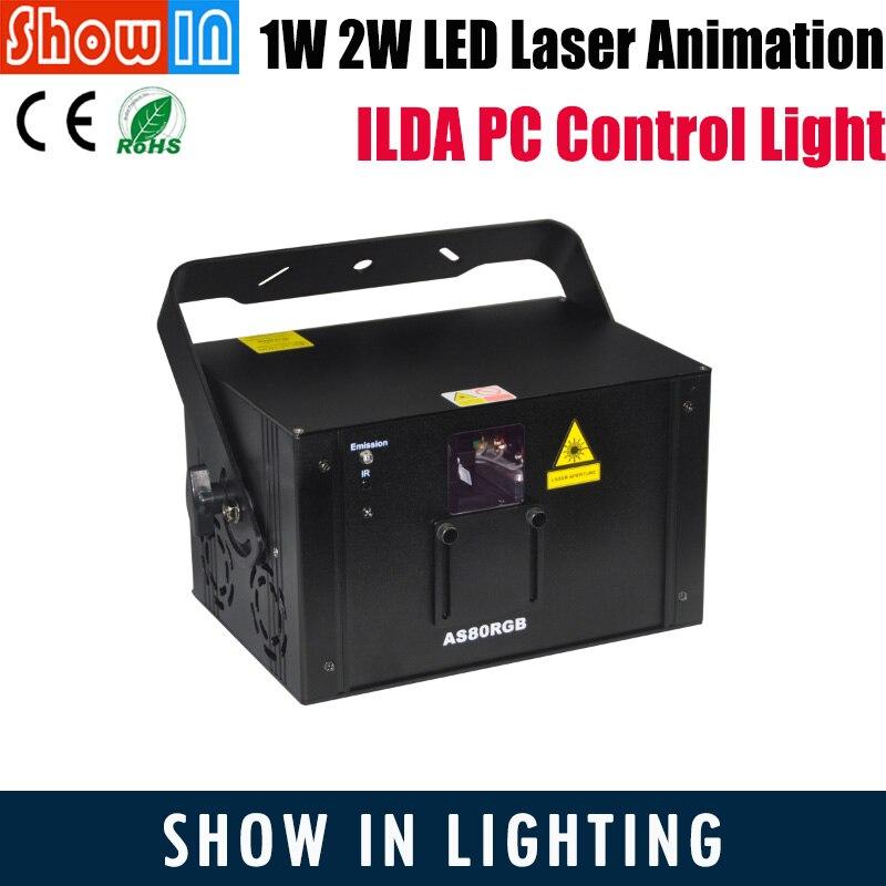 Qualifiziert 1 Watt 2 Watt Led Laser Animation Licht Ilda Pc Control Dmx512 Dj Disco Party Hochzeit Große Show Professionelle Bühne Beleuchtung Freies Verschiffen Auswahlmaterialien
