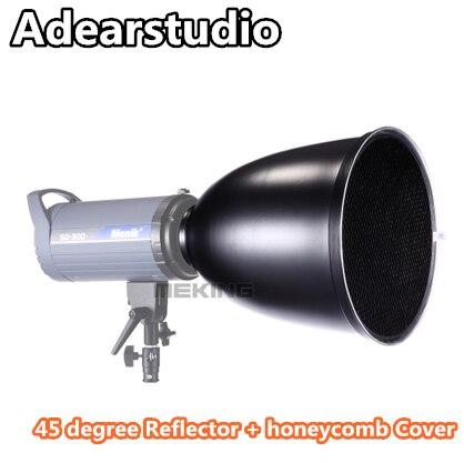 bilder für Tragbare 45 grad Reflektor + honeycomb Abdeckung für Kamera Flash langen 45 grad Metall Material abdeckung Adearstudio NO00DC