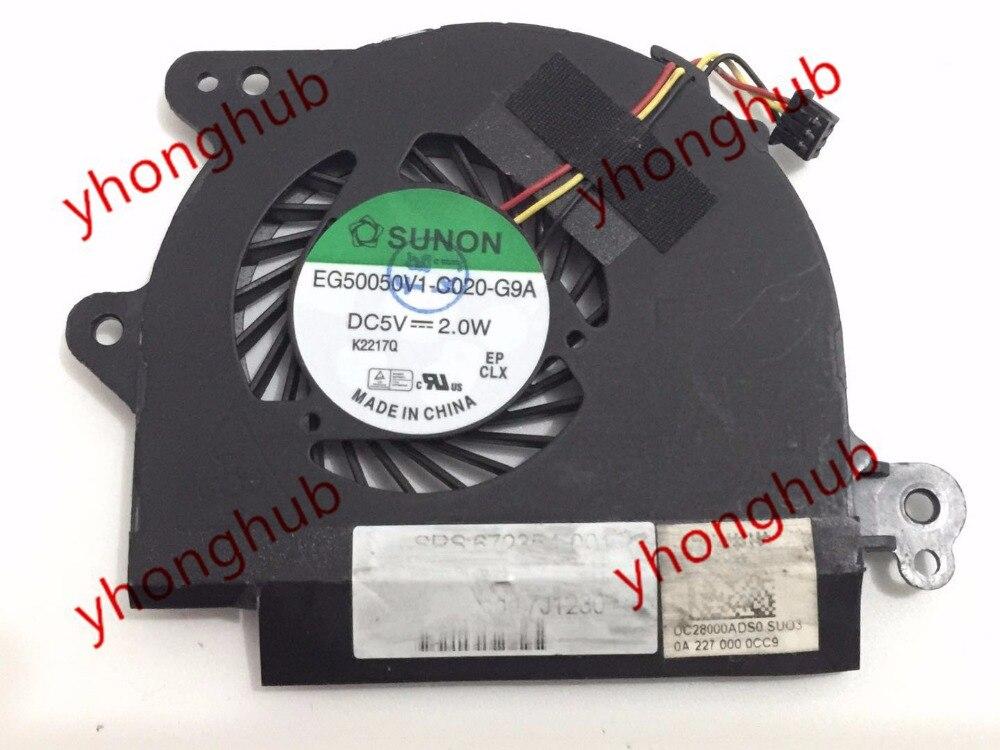 SUNON EG50050V1-C020-G9A 13-1015TU Pavilion Folio13 DC 5V 2.0W Server Bare Fan for dell e5430 082jh0 82jh0 fan bata0613r5h dc28000afvl mf60120v1 c430 g9a ksb0505ha