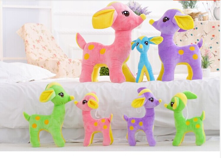 30cm lovely sika deer plush toy Beautiful cartoon deer doll birthday gift b4895