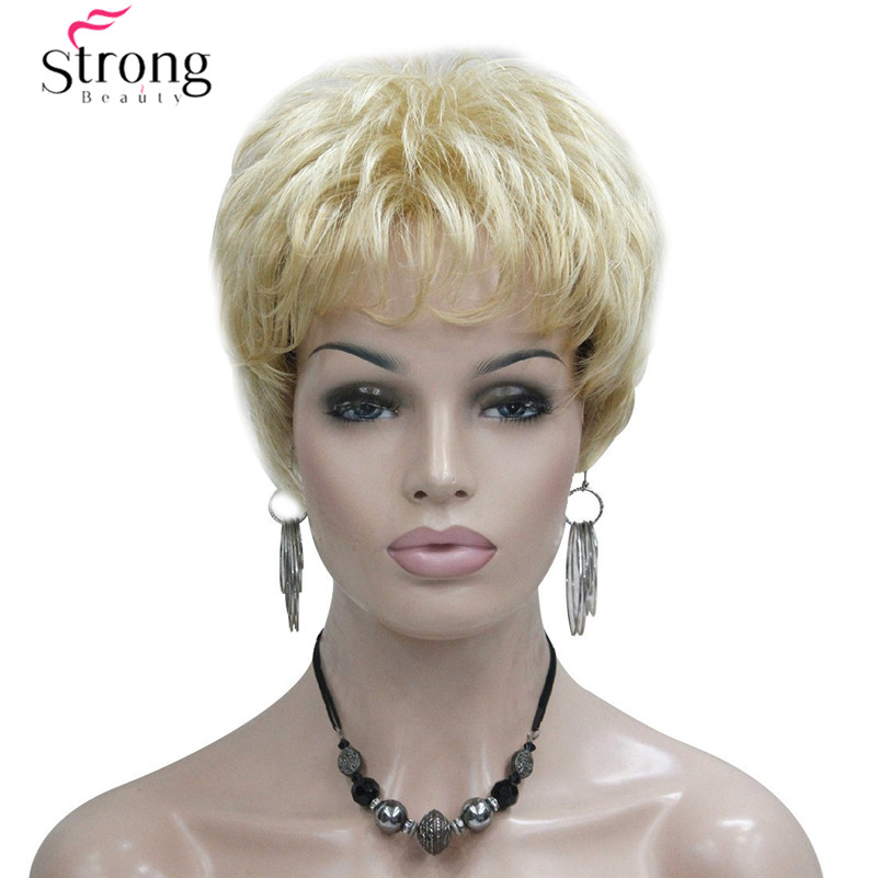 Short Golden Blonde Synthetic Hair wig For Women