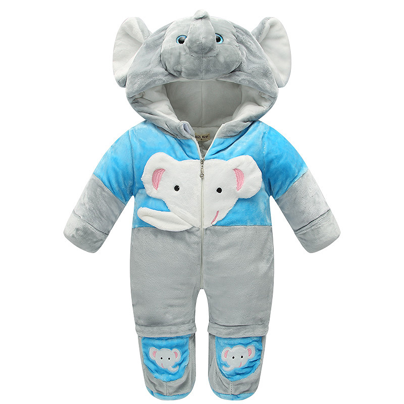 High Quality Baby Rompers Winter Thick Cotton Boys Kawaii Costume Girls Warm Clothes Kid Jumpsuit Children Outerwear Baby Wear magical ice cube