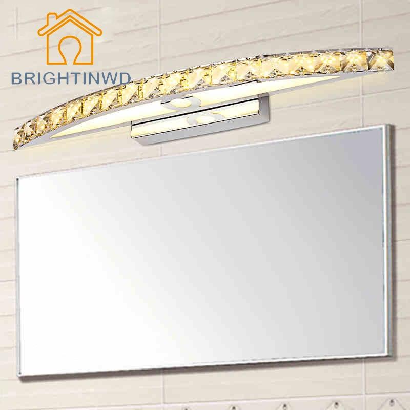 ФОТО Modern Style 110V 220V LED Wall Lamp 10W 15W Bathroom Mirror Light Makeup Lighting Crystal Lamp Warm White Cold White Fixture