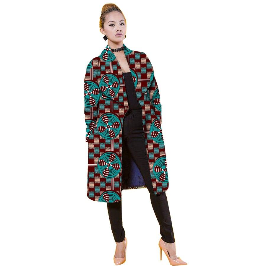 Frauen Jacke Casual Afrikanische Mäntel Graben Dame Dashiki Mäntel Batik Kostüm Weibliche Afrika Kleidung Windjacke Anpassen - 6