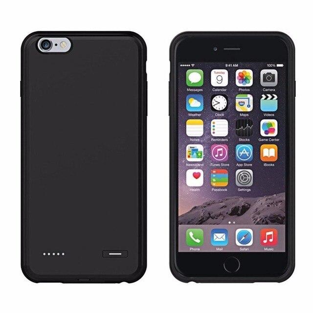 Ультра-Тонкий Умный Резервного Копирования Power Bank Обложка Для iPhone 6 6 s plus 5.5 дюймовый 4.7 дюймов Корпус Батареи Заряжать мягкая ПК