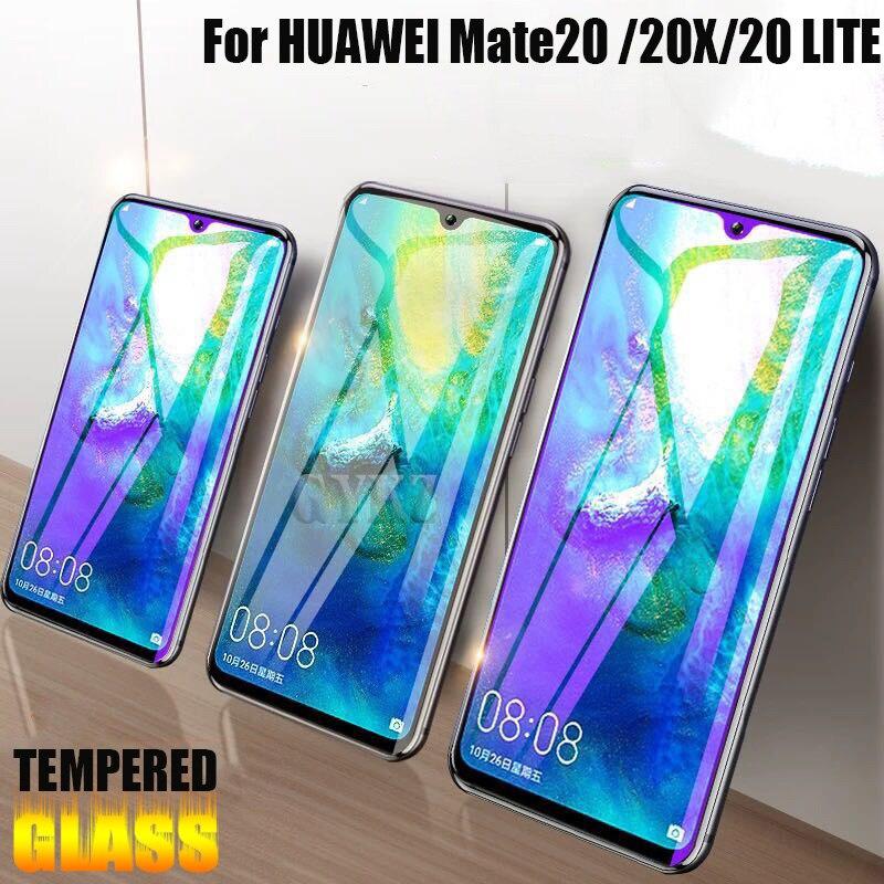 2 pièces plein écran couvert verre trempé pour Huawei Mate 20 lite 20X verre de protection antidéflagrant pour Huawei Mate 20 X 20X