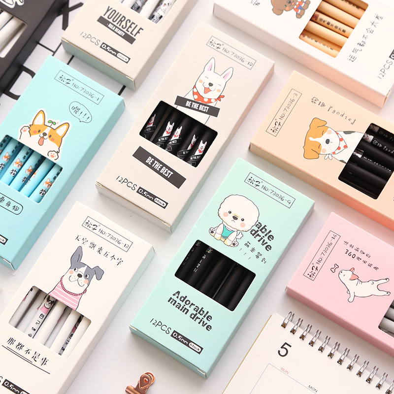 4 pcs/lot The Best Dog Animal Gel Pen Ink Pen Promotional Gift Stationery School & Office Supply
