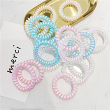 5pcs Free Shipping women phone ring hair bands with the girl Symphony rubber band accessories candy color chewing gum