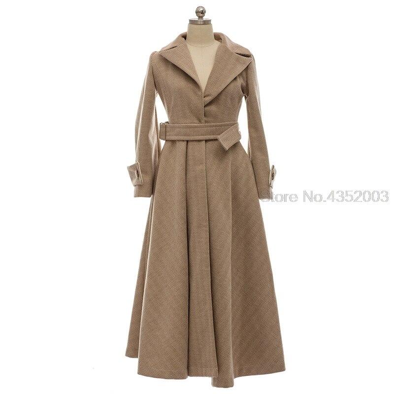 35e790f7d20d5 D'hiver vent Coupe Robe Femmes Taille La Doux Femme Femelle Imperméable  Plus Tranchée Hiver Manteau ...