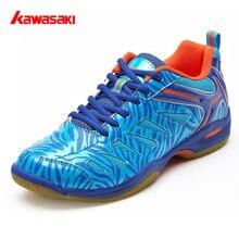 Новые Kawasaki дышащие бадминтон обувь анти-кручение Крытый спортивная обувь для женщин мужские кроссовки синий K-137