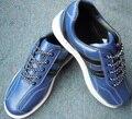 hot sale unisex  leather blue  professional bowling shoe