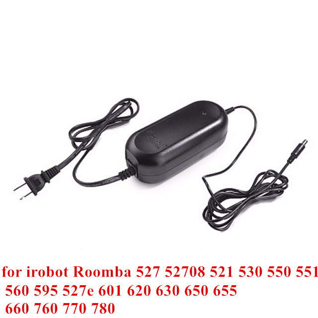 Power Adapter Charger for irobot Roomba 527 52708 521 530 550 551 560 595 527e 601 620 630 650 655 660 760 770 780 22.5V 1.25A remote controler replacement for irobot roomba 760 770 780 880 980 500 600 700 800 527 529 550 560 570 595 620 601 602 630 650