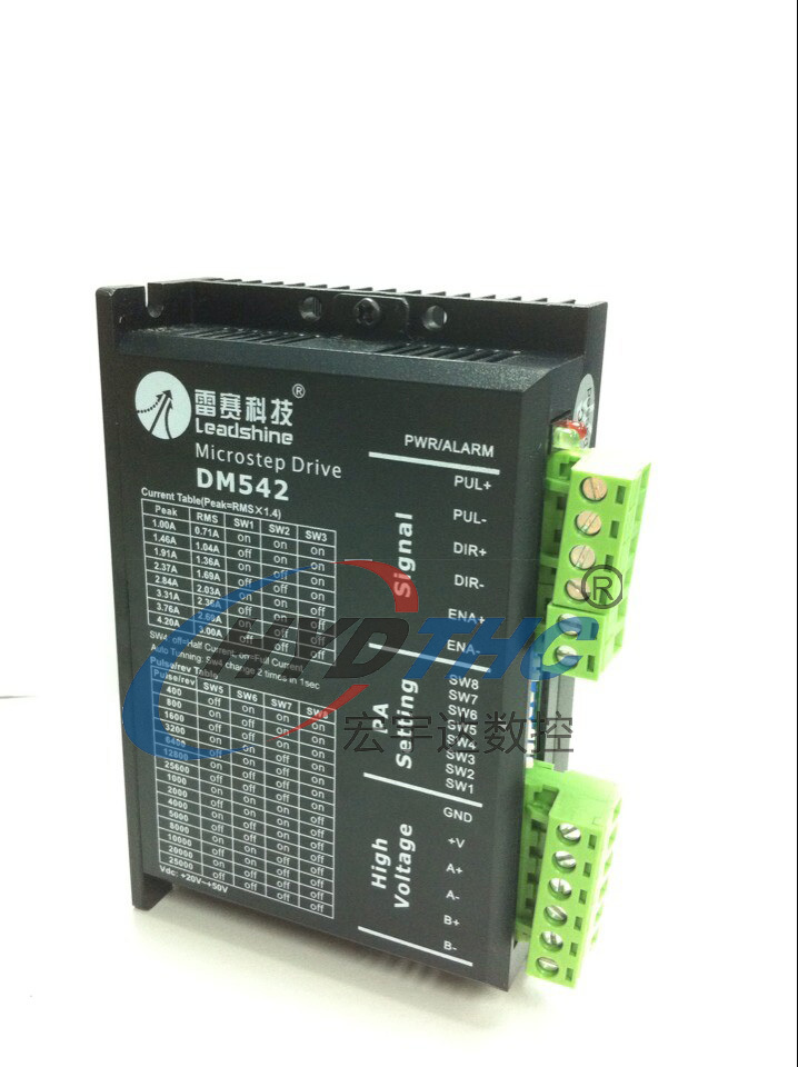цена на 100% Original Leadshine 2-phase digital stepper driver DM542 DSP work 24-50V fit NEMA 23 stepper