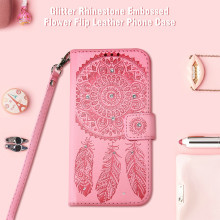 Get more info on the KISSCASE Case For iPhone 6 6s 5 5SE For Samsung Galaxy S6 S7 Edge For Huawei Flip Leather Campanula Case Glitter Card Slot Cover