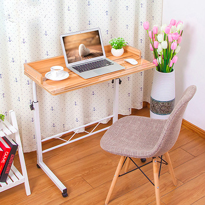 Promotion Fashion Household Notebook Computer Desk  Bedside Desktop  Mobile Lifting Desk Lazy Learning Table Free Shipping