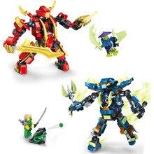 JX80006 Ninja Masters of Spinjitzu Ninja Mecha Minifigures Building Block Minifigure Toys Compatible Legoe