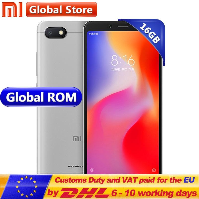 Original Xiaomi Redmi 6A 6 A 2GB 16GB ROM RAM Helio A22 Mobile Phone 13.0 MP + 5.0MP 3000mAh 5.45inch 1440*720