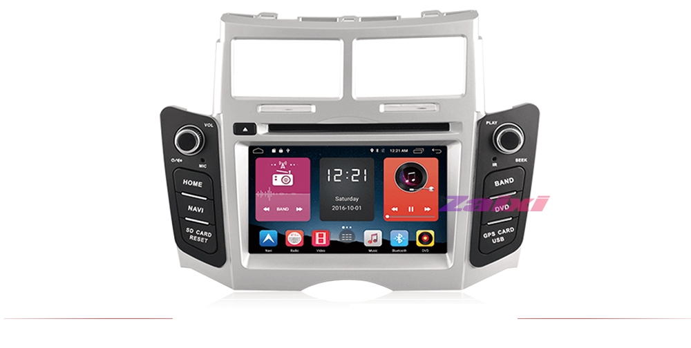 ZaiXi 2 DIN Android Touchscreen For Toyota Yaris 2005~2011 Car Multimedia Player Bluetooth GPS WiFi Navigator FM Radio Player 7