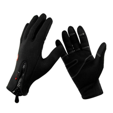 Men's Winter Fleece Gloves Sports Hunting tactical Gloves touch screen sensory cycling gloves full finger Black sahoo 42890 breathable touch screen full finger cycling gloves black blue xl pair