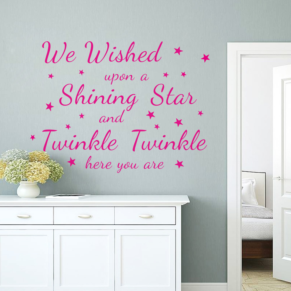 the shining quotes promotion shop for promotional the shining we wished upon a shining twinkle shining star quote wall stickers for kids rooms home decor wall decal decorative diy poster
