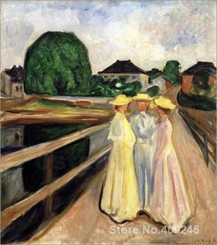 art gallery Girls on the pier by Edvard Munch oil on canvas Handmade High quality