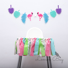 Hawaii Flamingo Theme Party Decorating Flags Baby's Birthday Shooting Props Package Wholesale