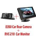 4.3 Polegada TFT LCD Monitor Do Carro Retrovisor Do Carro Monitor + E350 Night Vision Cor Câmera de Visão Traseira Do Carro À Prova D' Água