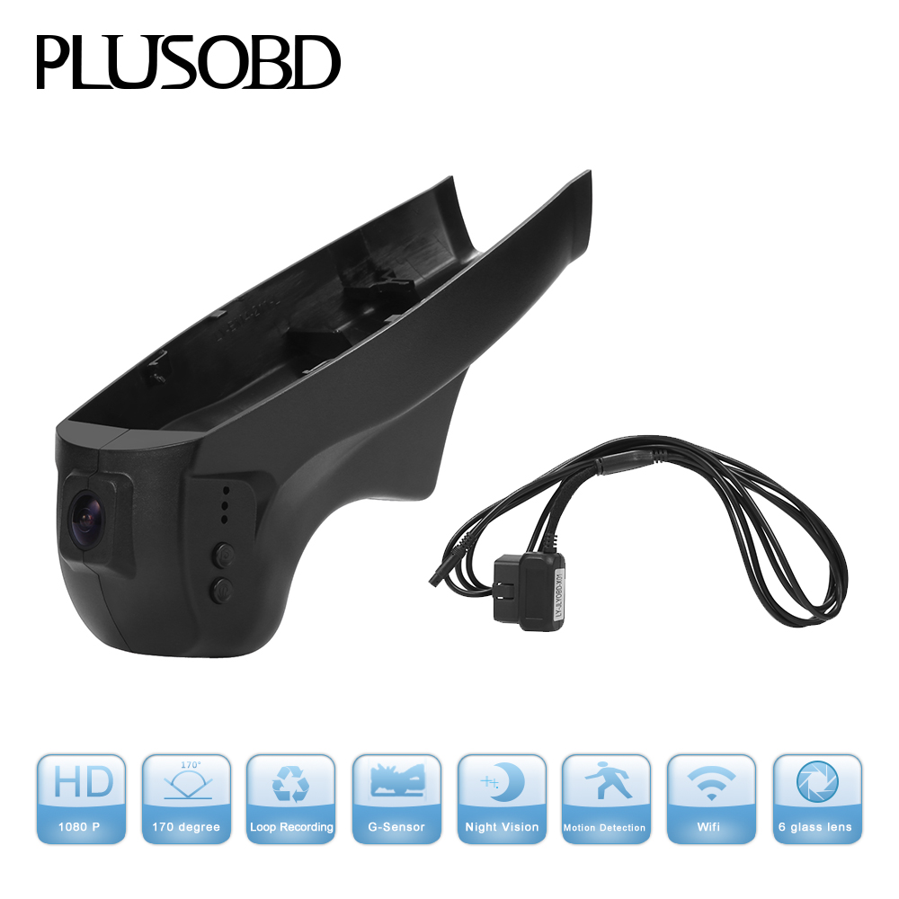 PLUSOBD Wifi Car Camera For BMW X5 X6 F15 F10 <font><b>F18</b></font> F07 7 Series F01 F02 Hidden DVR Video Recorder Dash Cam Car Black Box 1080P image