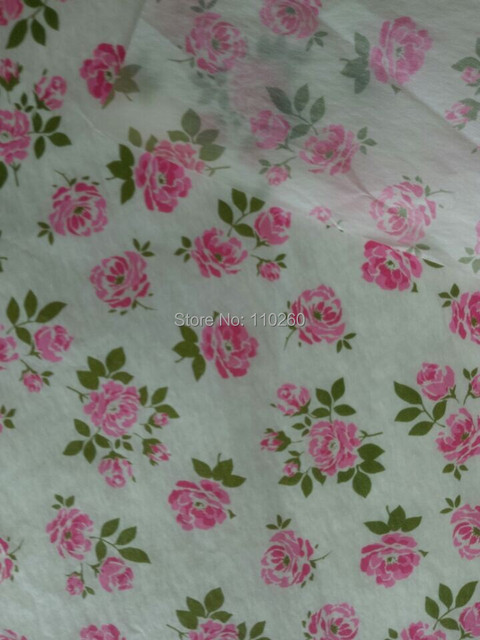 Lovely Flowers Pattern Tissue Paper For Girls Gifts Wrapping 50x40