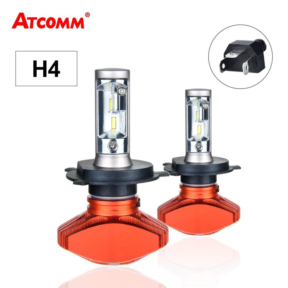 H4 LED Mini Fanless 12 v Auto Scheinwerfer Birne 6500 karat 80 watt Super Weiß LED H4 Led-lampen Für autos Motorrad Coche Ampulle LED Voiture