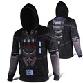 2016 OW Reaper Gabriel Reyes Superhero Unisex Cosplay Polyester Print Zip up Hoodies Coats Sweatshirts