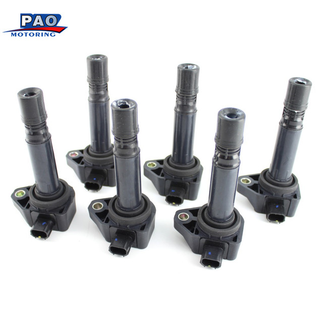 6PCS/Set  Ignition Coil Fit For Honda Accord Crosstour Odyssey Acura RL TL TSX 178-8379, 30520-R70-A01, 30520-R70-S01