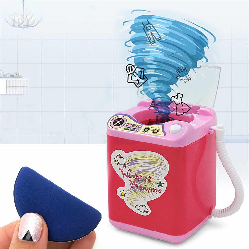 Maquiagem Pincel Limpo Dispositivo de Limpeza Automática Máquina de Lavar Roupa Mini Ferramenta de limpeza do pincel de maquiagem Beleza Liquidificador elétrico crianças brinquedos