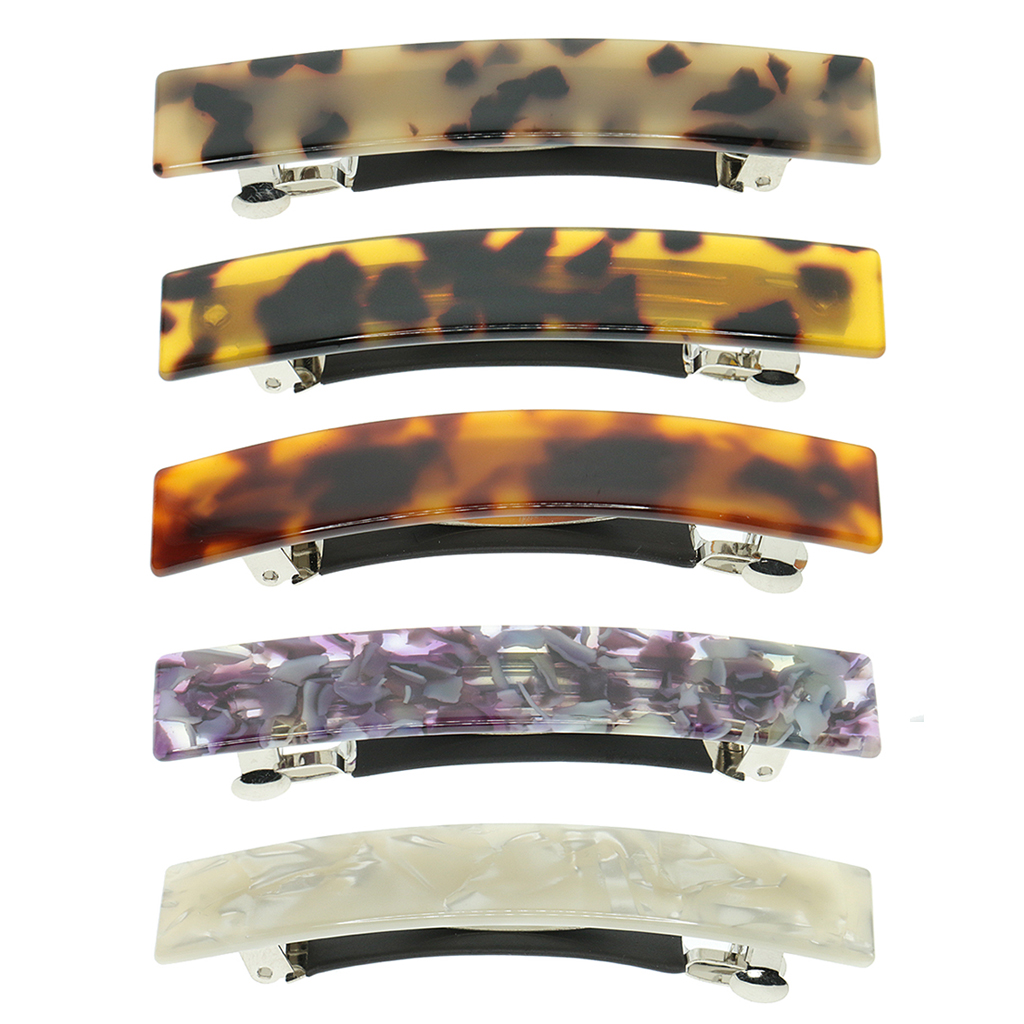 French Style Acetate Leopard Hair Clips For Women Trendy Automatic Barrette Hair Clips Pins Hair