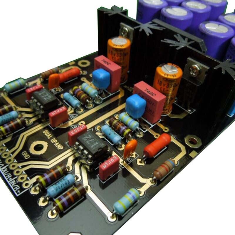 MM carte amplificateur PCBA platines Phono ampli OPA2111KP allemagne double Circuit atténué RIAA violet 35 V Version HIFI bricolage C2-003 - 2