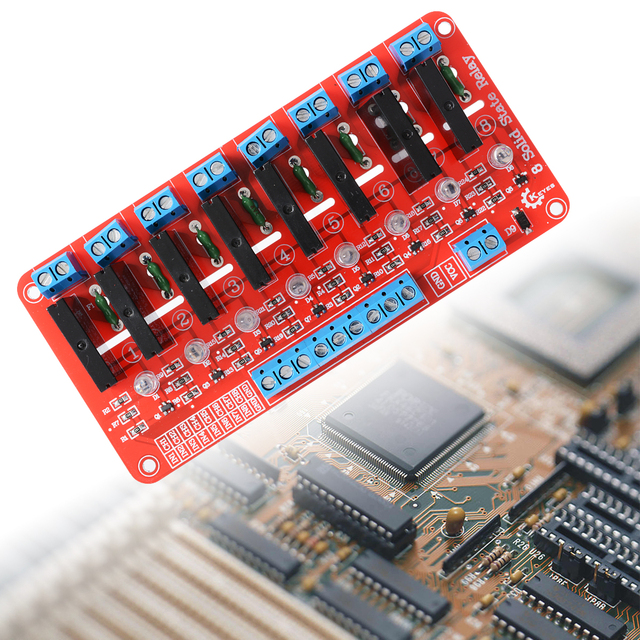 8 Channel 5V Solid State Relay Module Board SSR G3MB-202P 250V 2A for Arduino TE171
