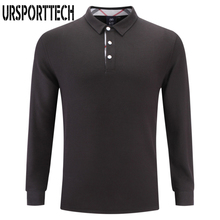 URSPORTTECH Mens Polo Shirt Brands 2017 Male Long Sleeve Fashion Casual Slim Solid Color Polos Men Jerseys Plus Size S-4XL